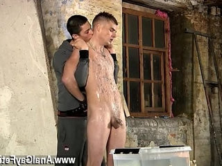 Video home masturbation gay boys skimpy Leo cant escape as the