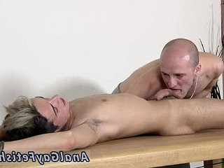 homo boy fetish movies Brit twink Oli Jay is strapped down to the