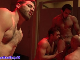Hardcore orgy session with John Magnum and buds