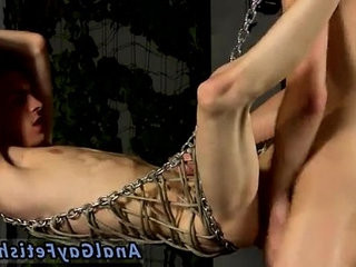 Teenage gay foot fetish movies Aaron finds himself tied into the metal