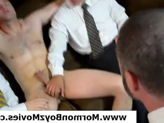 youthful mormon stud stourped and fondled by gay group