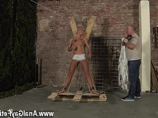 homophile dude sucks on dudes underwear Blindfolded, ball-gagged, d and whipped