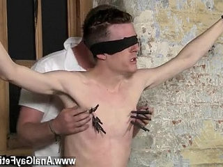 Gay shaft With his sensitive nutranssexualack tugged and his penis jacked and