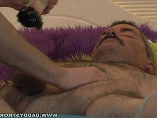 Daddy Tied Up And Jerked Off