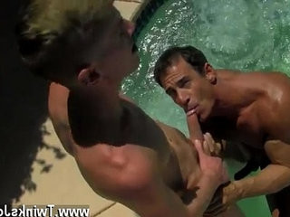 Hot twink scene Daddy Poolside Prick Loving