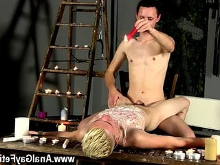 Gay masculine swiss Splashed With Wax And jism