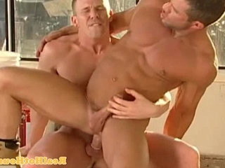 Muscular homo jock getting butt pounded
