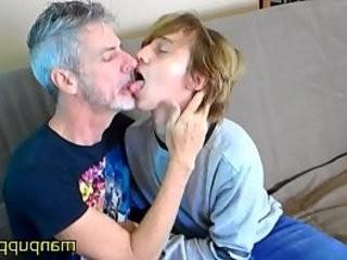 homo 18 year old Twink 50yo Daddy smooching and Tongue Worship Elis Ataxxx Richard Lennox Manpuppy