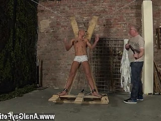 dangled gays uncircumcised Blindfolded, gagged, torguysted and flogged, the man