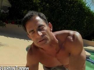Nude men Daddy Poolside Prick Loving